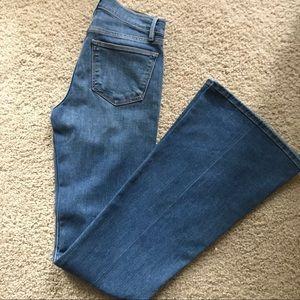 Frame le high flare denim jeans size 25 NWT